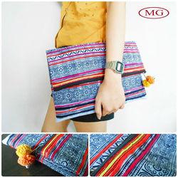 lady's ethnic clutch bag,vintage ethnic handbag for women