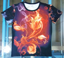 custom 100% polyester sublimation print T-shirt