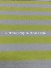 80% cotton + 20% polyester stripe terry