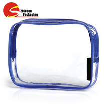 Travel Blue Cosmetic Organizer Durable PVC Bag Clear Portable Cosmetic Bag