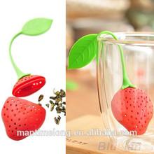 Silicone Strawberry Design Loose Tea Leaf Strainer Herbal Spice Infuser Filter