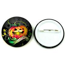 Personalizado 2014 Halloween fábrica artesanal qualidade pinos emblema da lata para a celebração