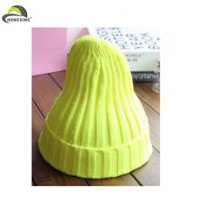 De calidad superior verde divertido barato de la gorrita tejida del sombrero de venta al por mayor