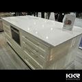 custom made cozinha branca pura pedra de quartzo bancadas