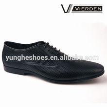 wholesale men dress shoes punching hole black leather shoe for men MJ750-1