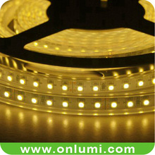 SMD3528 120LED per meter 8mm width yellow light led strip