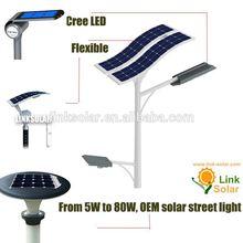 Customize OEM 6 solar panels + double arms led solar street light