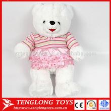 promosyon hediye peluş kız oyuncak ayı oyuncak giyiyor etek