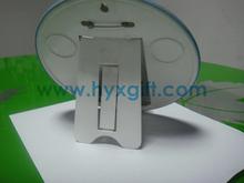 Handmade Factory Hugh Metal Tin Button Badge With Plastic Base For Desk Display