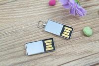 Metal Mini Smart waterproof Key chain usb 2.0 memory flash stick pen drive 8GB