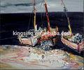 resumo do barco à vela mastro de parede da arte