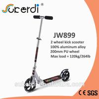 CE SGS aluminum 2 wheel scooter, 200mm PU wheel adult kick scooter