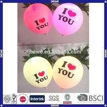 2014 made in china wholesale good quality promotional wedding oem led light balloon