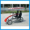 elegante quatro rodas de bicicletas quadriciclo com assento do bebê frente