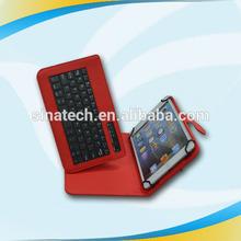 Custom leather cellphone folio bluetooth keyboard case for ipad mini