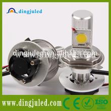Super bright led headlight bulb h4 2 pcs cree 1512 led head light h4 so hot h4 high power led headlight
