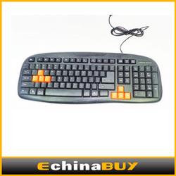 Classic silicone USB Keyboard 104Keys Flexible gaming Keyboard for destop