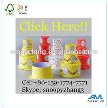Dongguan factory wholesale price rigid cardboard gift box round shape