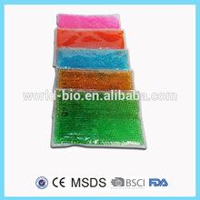 Rectangular reusable microwavable heating pad beads