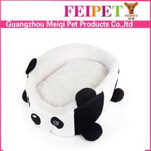 washable cute panda shape dog cushion bed wholesale
