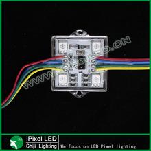 IP67 waterproof ws2801 led module square metal case
