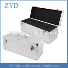 Aluminum hard drive case cheap dustproof HDD storage box,18'' x 8'' x 8''