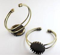 vintage brass round base tray bracelet,DIY bracelet,bronze bracelet
