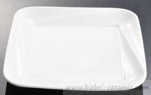 Plain White Ceramic Porcelain Square Custom Design Dessert/Bread/Salad/Dinner Service Plates Dishes Tray Sets