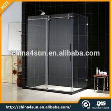 3 panel sliding glass sex glass door shower room