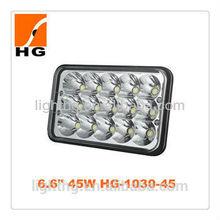 HG-1030 6.6''s Factory Wholesale Rectangle Auto Work Led Light 45W Rectangle Led Driving Light Rectangle Sealed Beam Led Light