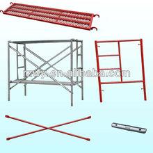 Steel Step A Frame System Scaffolding with Catwalk Board/Lock Pin/Cross Brace/Frames