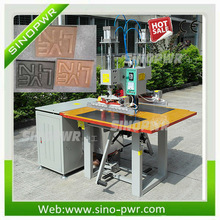 two heads High frequency logo welding and embossing machine for making trademark