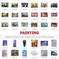 Famosas pinturas contemporâneas: uma parada de abastecimento da china: mercado de yiwu para artesanato& pintura