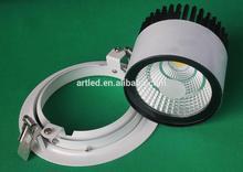 50W Adjustable comercial LED downlights led retrofit include lighting bracket