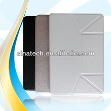 High Quality 360 rotate Tablet leather tan case for ipad mini