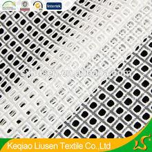 2015 new design small square hole cotton emboridery fabric for women's garment