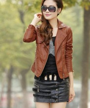 Z71803A Wholesale warm AUTUMN leather coat woman coats