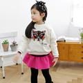 Sıcak satış toptan çocuk butik giyim moda kız bebek setleri( m20681a)