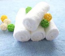 Latest Design Wholesale Commercial thin white cotton face towels