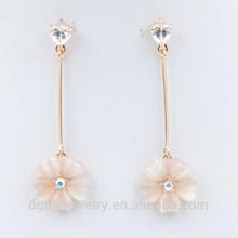 fashion earring designs new model gold flower drop earrings