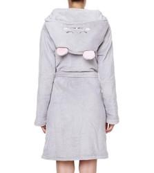 Cute cat coral fleece women's Bath Robe