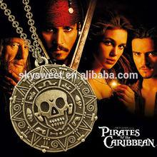 Ingrosso fan film gioielli, pirati dei caraibi collana, uomo gioielli a buon mercato