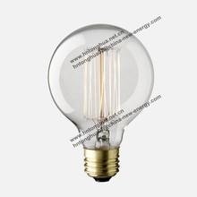 Carbon Filament Retro G80 Globe Light Bulb E27/E26/B22 40W/60W 110-130V / 220V-240V CE ROHS