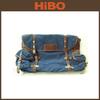 2014 hot selling men's custom vintage canvas and leather smart travel bag