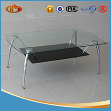 metal leg glass top coffee table with leather covering stools