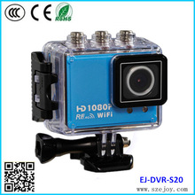 S20 Waterproof 50meters Full HD WIFI 1080P sport camera with WIFI and remote, electric bicycle