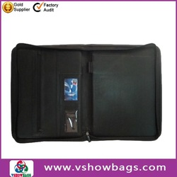 China supplier leather folder , manager briefcase, leather portfolio