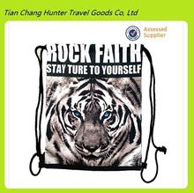 New arrival!!! Vivid 3D animal sublimation print drawstring bags,3d backpack,digital print drawstring bag