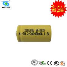 1.2v 2/3aa 400mah nimh/nicd battery pack