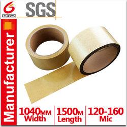 Flat tape handle kraft paper wine bag